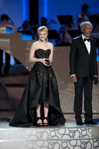 """The Academy Awards - 82nd Annual"" (Telecast) Carey Mulligan, Morgan Freeman 3-7-2010 Photo by Michael Yada © 2010 A.M.P.A.S. - Image 23908_0078"