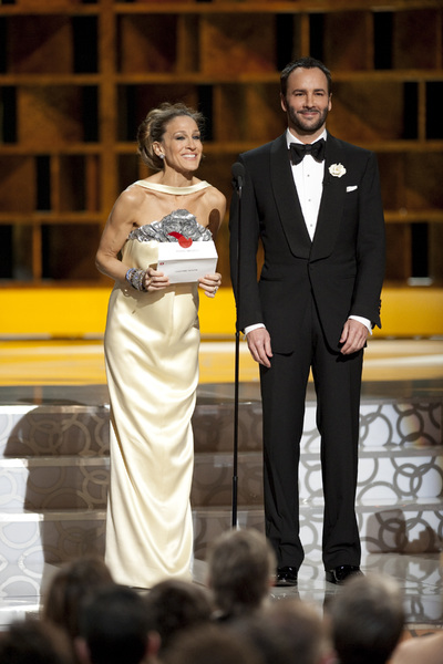 """""""The Academy Awards - 82nd Annual"""" (Telecast)Sarah Jessica Parker, Tom Ford3-7-2010Photo by Michael Yada © 2010 A.M.P.A.S. - Image 23908_0280"""
