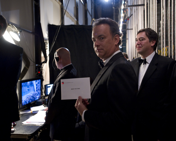 """The Academy Awards - 82nd Annual"" (Backstage)Tom Hanks3-7-2010Photo by Richard Harbaugh © 2010 A.M.P.A.S. - Image 23908_0363"