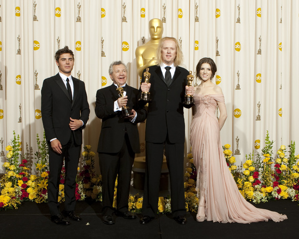 """The Academy Awards - 82nd Annual"" (Press Room) Zac Efron, Ray Beckett, Paul N.J. Ottosson, Anna Kendrick 3-7-2010 Photo by Rick Salyer © 2010 A.M.P.A.S. - Image 23908_0383"