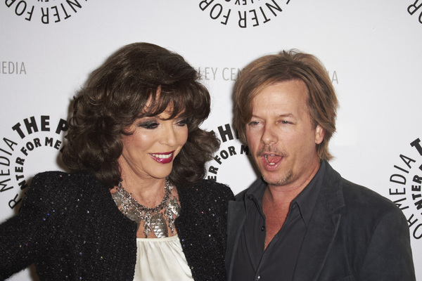 """Rules of Engagement Panel at The Paley Center"" Joan Collins and David Spade11-4-2010 / The Paley Center for Media / Beverly Hills CA / Photo by Benny Haddad - Image 23988_0136"
