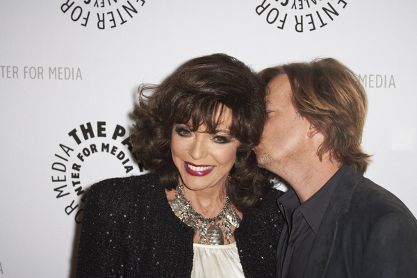 """""""Rules of Engagement Panel at The Paley Center"""" Joan Collins and David Spade11-4-2010 / The Paley Center for Media / Beverly Hills CA / Photo by Benny Haddad - Image 23988_0137"""