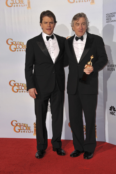 """The Golden Globe Awards - 68th Annual"" (Press Room)Matt Damon, Robert De Niro1-16-2011 © 2011 Jean Cummings - Image 24010_0353"