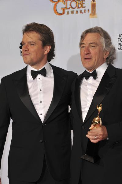 """The Golden Globe Awards - 68th Annual"" (Press Room)Matt Damon, Robert De Niro1-16-2011 © 2011 Jean Cummings - Image 24010_0355"