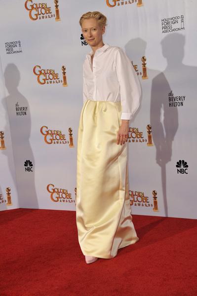 """The Golden Globe Awards - 68th Annual"" (Press Room)Tilda Swinton1-16-2011 © 2011 Jean Cummings - Image 24010_0391"