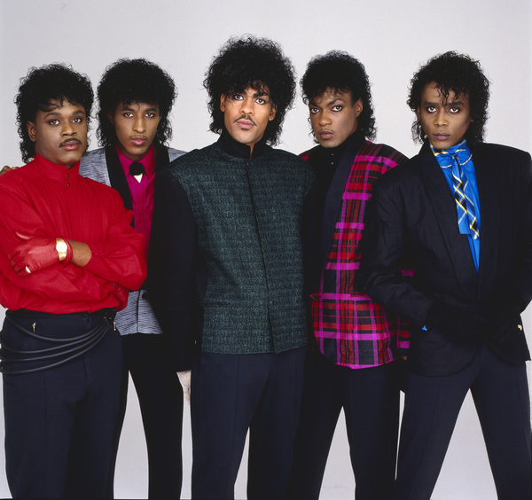 """The Deele""Darnell ""Dee"" Bristol, Kenny ""Babyface"" Edmonds, Carlos ""Satin"" Greene, Antonio ""L.A."" Reid, Kevin ""Kayo"" Roberson 1985 © 1985 Bobby Holland - Image 24025_0001"