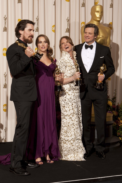 """""""The Academy Awards - 83rd Annual"""" (Press Room) Christian Bale, Natalie Portman, Melissa Leo, Colin Firth2-27-2011Photo by Rick Salyer © 2011 A.M.P.A.S. - Image 24036_0286"""