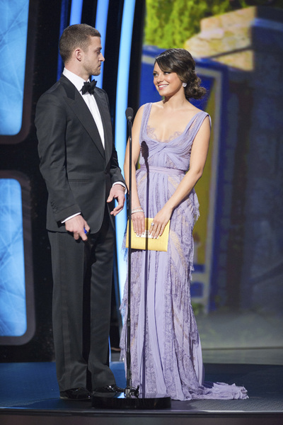 """The Academy Awards - 83rd Annual"" (Telecast) Justin Timberlake, Mila Kunis02-27-2011 Photo by Michael Yada © 2011 A.M.P.A.S. - Image 24036_0340"