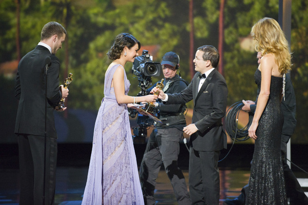 """The Academy Awards - 83rd Annual"" (Telecast) Shaun Tan, Justin Timberlake, Mila Kunis02-27-2011 Photo by Michael Yada © 2011 A.M.P.A.S. - Image 24036_0348"