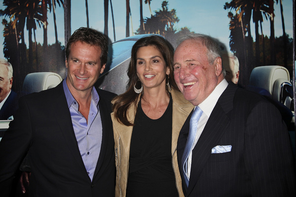 """""""His Way"""" Premiere Rande Gerber, Cindy Crawford, Jerry Weintraub  3-22-2011 / HBO / Paramount Theater / Hollywood CA / Photo by Imeh Akpanudosen - Image 24043_0205"""