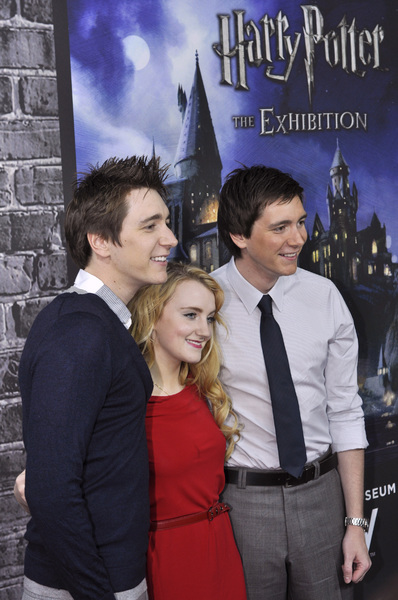 """""""Harry Potter: The Exhibition""""James Phelps, Evanna Lynch, Oliver Phelps4-4-2011 / Discovery Times Square / New York NY / Warner Brothers / Photo by Eric Reichbaum - Image 24044_0018"""