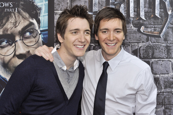 """Harry Potter: The Exhibition""James Phelps, Oliver Phelps4-4-2011 / Discovery Times Square / New York NY / Warner Brothers / Photo by Eric Reichbaum - Image 24044_0019"