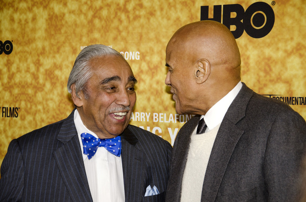 """Sing Your Song"" Premiere Charles Rangel, Harry Belafonte10-6-2011 / Apollo Theater / New York NY / HBO / Photo by Eric Reichbaum - Image 24117_0085"