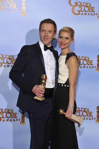 """The Golden Globe Awards - 69th Annual"" (Press Room) Claire Danes, Damian Lewis1-15-2012 © 2012 Jean Cummings - Image 24150_0022"
