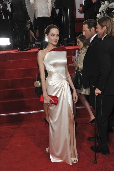 """The Golden Globe Awards - 69th Annual"" (Arrivals) Angelina Jolie, David Duchovny, Brad Pitt1-15-2012 © 2012 Jean Cummings - Image 24150_0160"