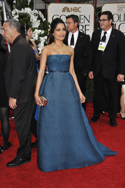"""The Golden Globe Awards - 69th Annual"" (Arrivals) Freida Pinto1-15-2012 © 2012 Jean Cummings - Image 24150_0233"