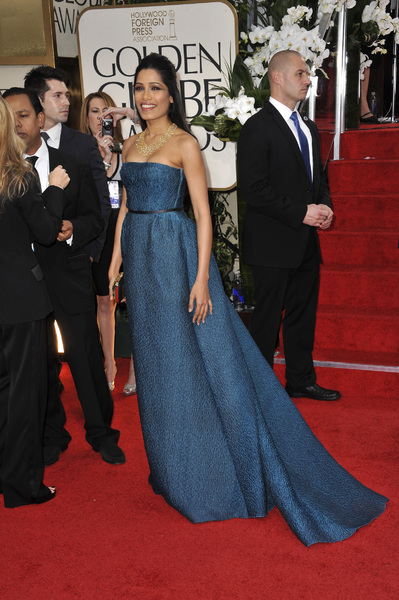 """The Golden Globe Awards - 69th Annual"" (Arrivals) Freida Pinto1-15-2012 © 2012 Jean Cummings - Image 24150_0236"