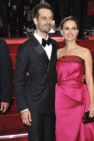 """The Golden Globe Awards - 69th Annual"" (Arrivals) Benjamin Millepied, Natalie Portman1-15-2012 © 2012 Jean Cummings - Image 24150_0376"