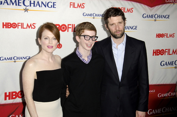 """Game Change"" PremiereJulianne Moore, Caleb Freundlich, Bart Freundlich3-7-2012 / Ziegfeld Theater / HBO / New York NY / Photo by Eric Reichbaum - Image 24183_0137"