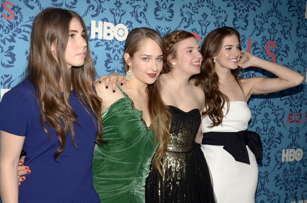 """Girls"" PremiereZosia Mamet, Jemima Kirke, Lena Dunham, Allison Williams4-4-2012 / School of Visual Arts / HBO / New York NY / Photo by Eric Reichbaum - Image 24204_0142"
