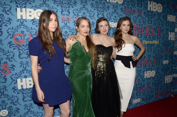 """Girls"" PremiereZosia Mamet, Jemima Kirke, Lena Dunham, Allison Williams4-4-2012 / School of Visual Arts / HBO / New York NY / Photo by Eric Reichbaum - Image 24204_0143"