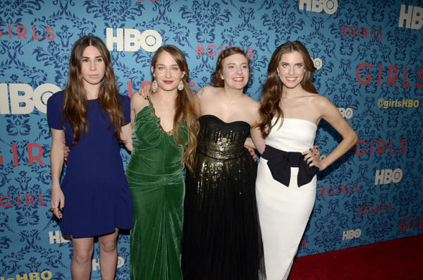 """Girls"" PremiereZosia Mamet, Jemima Kirke, Lena Dunham, Allison Williams4-4-2012 / School of Visual Arts / HBO / New York NY / Photo by Eric Reichbaum - Image 24204_0149"