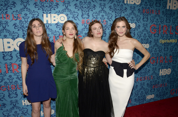 """Girls"" PremiereZosia Mamet, Jemima Kirke, Lena Dunham, Allison Williams4-4-2012 / School of Visual Arts / HBO / New York NY / Photo by Eric Reichbaum - Image 24204_0150"