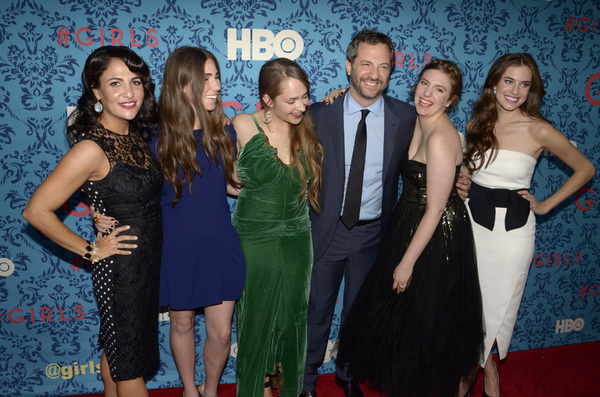"""Girls"" PremiereJenni Konner, Zosia Mamet, Jemima Kirke, Judd Apatow, Lena Dunham, Allison Williams4-4-2012 / School of Visual Arts / HBO / New York NY / Photo by Eric Reichbaum - Image 24204_0151"