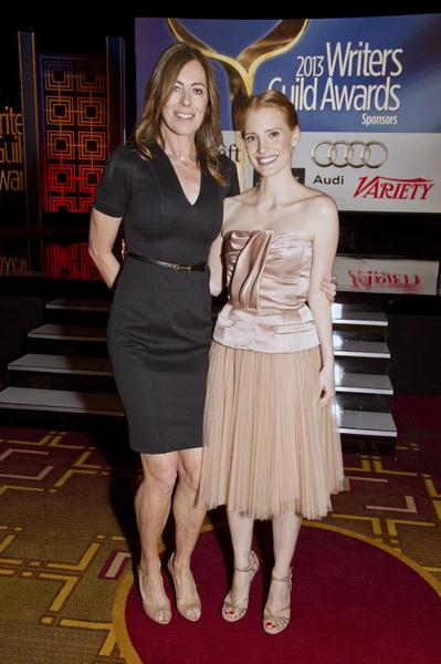 """2013 Writers Guild Awards"" Kathryn Bigelow, Jessica Chastain02-17-2013 / JW Marriott Hotel / Los Angeles, CA © 2013 Michael Jones - Image 24263_0013"