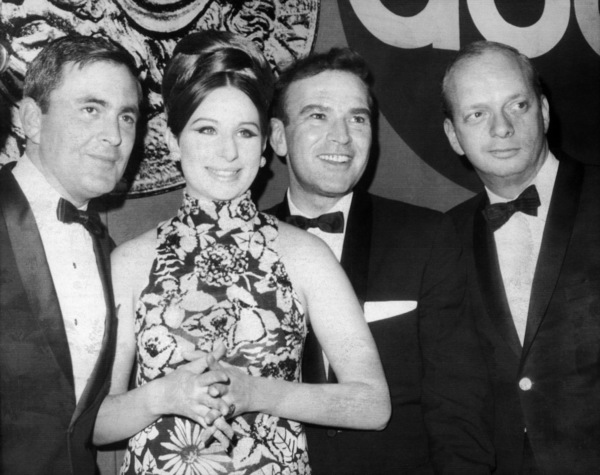 """John Kander, Barbra Streisand, Fred Ebb and Hal Prince at """"The 21st Annual Tony Awards"""" ceremony March 26, 1967** B.D.M. - Image 24293_0104"""