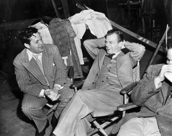 "Orson Welles and Joseph Cotten on the set of ""Journey Into Fear""1943 RKO** B.D.M. - Image 24293_0374"