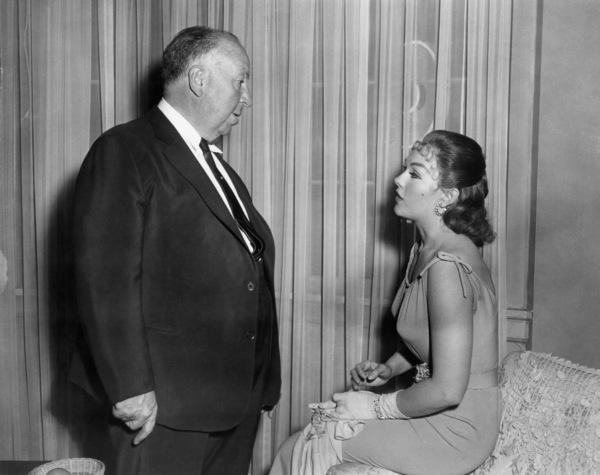 "Alfred Hitchcock and Kim Novak on the set of ""Vertigo""1958 Paramount** B.D.M. - Image 24293_0574"