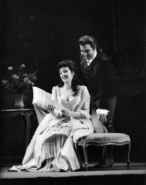 "Anna Moffo and  Nicolai Gedda in ""Manon"" at the MET 1963Photo by Alfred Statler** B.D.M. - Image 24293_0628"