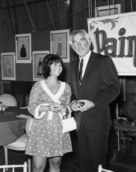 "Michelle Triola and Lee Marvin attend the Bon Voyage party for the cast of ""Paint Your Wagon"" at Paramount StudiosJune 13, 1968** B.D.M. - Image 24293_1122"