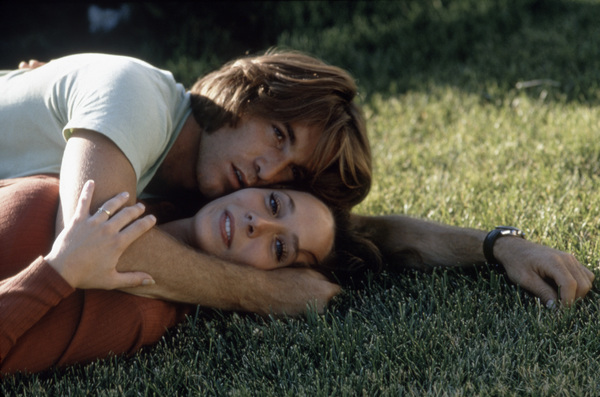 """Dennis Wilson and his wife Barbara Charren on the set of """"Two-Lane Blacktop""""1971 Universal** B.D.M. - Image 24293_1273"""