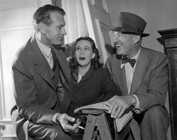 "Gary Cooper, Teresa Wright and Sam Wood on the set of ""Casanova Brown""1944 RKO** B.D.M. - Image 24293_1370"