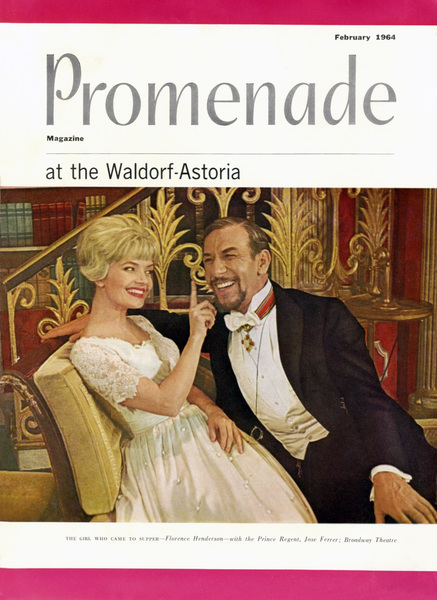 "Florence Henderson and Jose Ferrer in ""The Girl Who Came To Supper"" on the cover of Promenade magazine1964Photo by Friedman-Abeles** B.D.M. - Image 24293_1437"