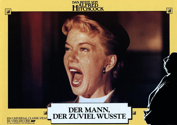 """German re-release lobby card (1983) of Doris Day in """"The Man Who Knew Too Much""""1956 Paramount** B.D.M. - Image 24293_1934"""