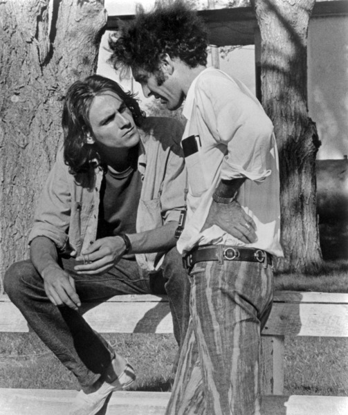 "James Taylor and Monte Hellman on the set of ""Two-Lane Blacktop""1971 Universal** B.D.M. - Image 24293_2278"