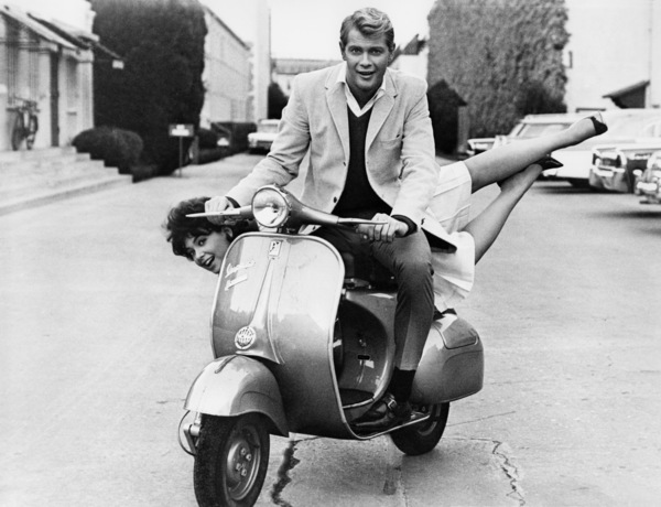 """Suzanne Pleshette and Troy Donahue during filming of """"Rome Adventure""""1962 Warner Bros.** B.D.M. - Image 24293_2514"""