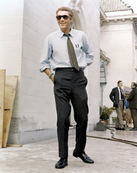 "Steve McQueen on the set of ""Bullitt""1968 Warner Bros.** B.D.M. - Image 24293_2538"