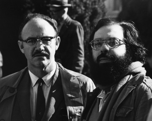 "Gene Hackman and writer/director Francis Ford Coppola on the set of ""The Conversation""1974 Paramount** B.D.M. - Image 24293_2541"