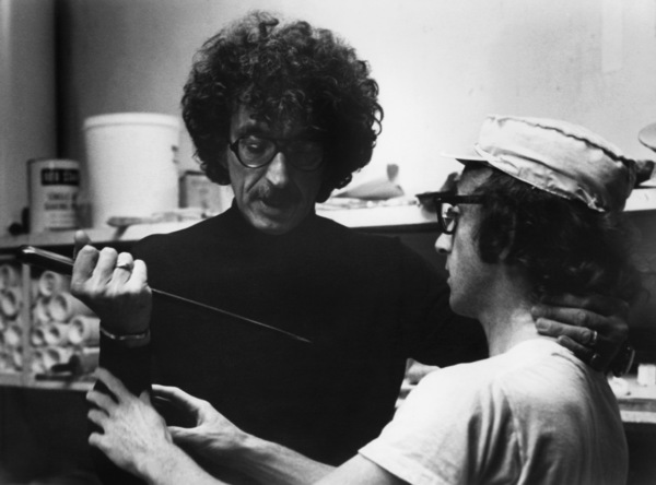 "Herbert Ross and writer Woody Allen on the set of ""Play It Again, Sam""1972 Paramount** B.D.M. - Image 24293_2561"