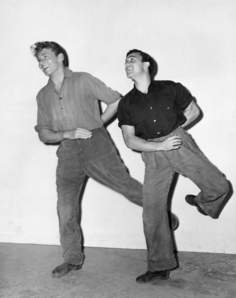 "Jean-Pierre Aumont and Gene Kelly on the set of ""The Cross of Lorraine""1943 MGM** B.D.M. - Image 24293_2620"