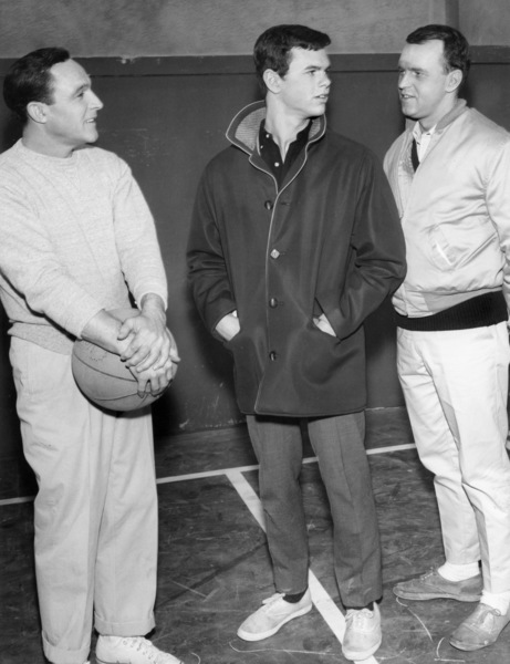 "Gene Kelly, Peter Helm, and George Furth in the TV series ""Going My Way""Episode: ""A Matter of Principle""1962** B.D.M. - Image 24293_2629"