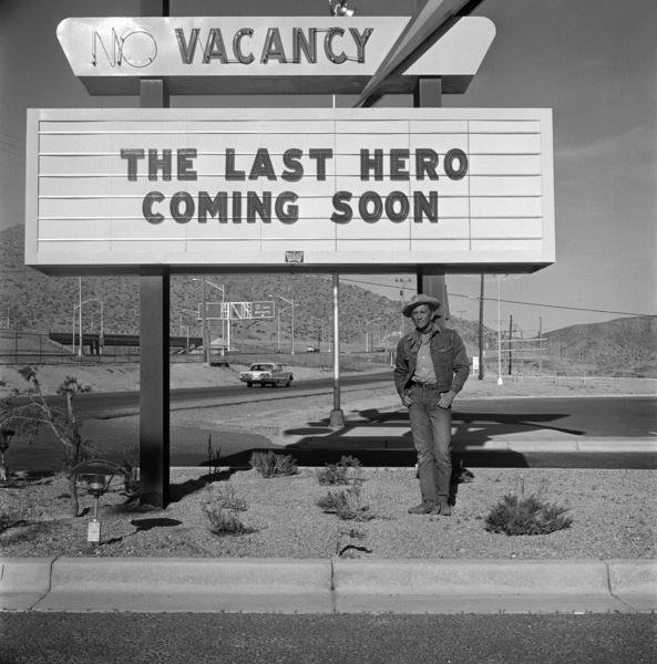 """Kirk Douglas on location during filming of """"Lonely Are the Brave""""1962 Universal** B.D.M. - Image 24293_2658"""