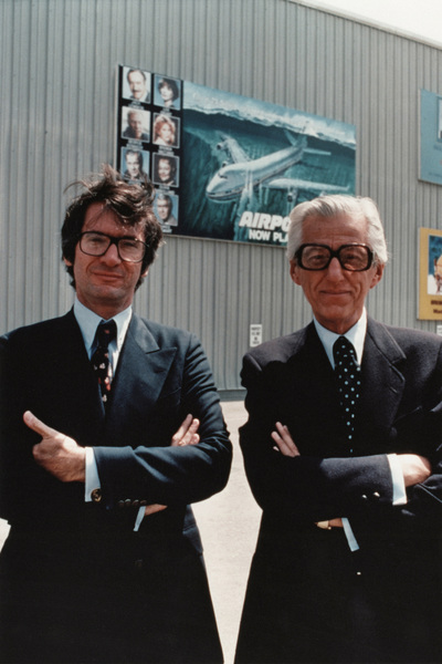 "Sidney ""Sid"" Sheinberg and Lew Wasserman on the Universal Studios lot 1977** B.D.M. - Image 24293_2998"