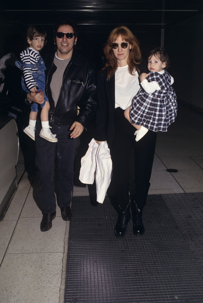 Bruce Springsteen with his wife, Patti Scialfa, and their children, Evan and Jessecirca 1990s© 1990 Gary Lewis - Image 24300_0551