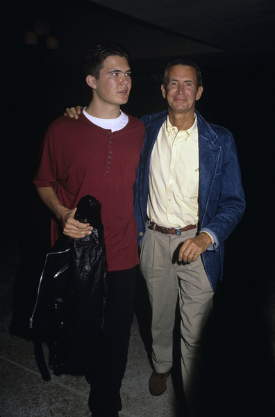 Anthony Perkins and his son Osgood