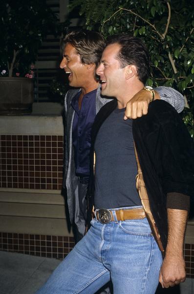 Don Johnson and Bruce Williscirca 1980s© 1980 Gary Lewis - Image 24300_0587